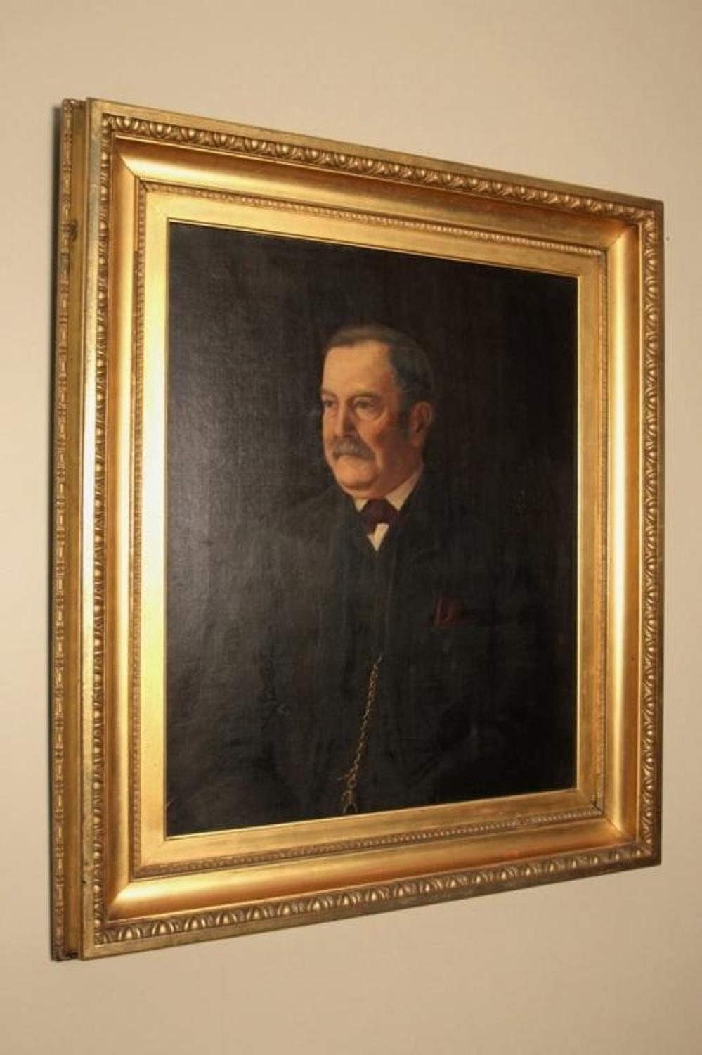 Fabulous Large Edwardian Oil Portrait