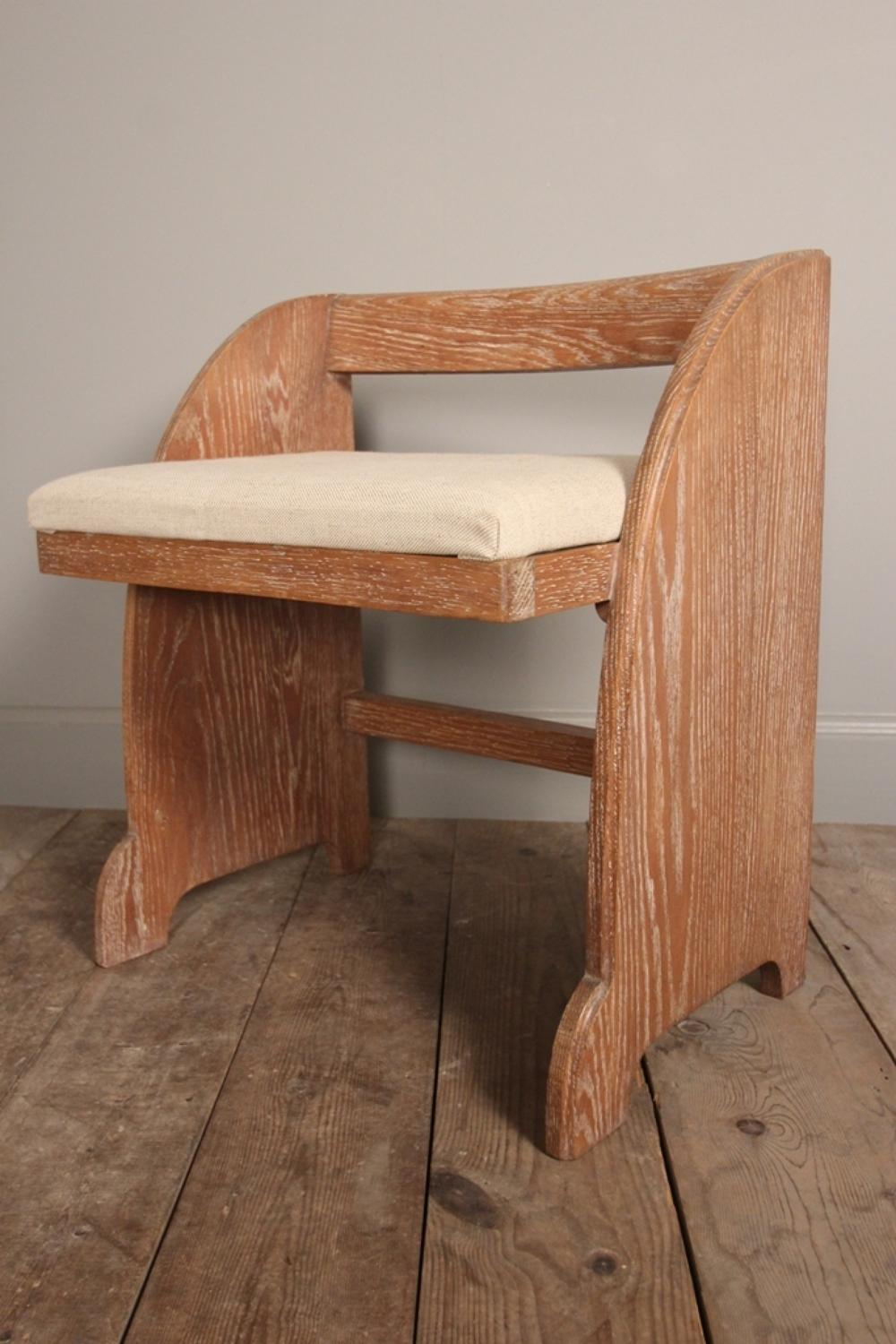 Art Deco Oak Stool