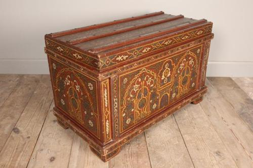 19th C. Trunk in Original Paint