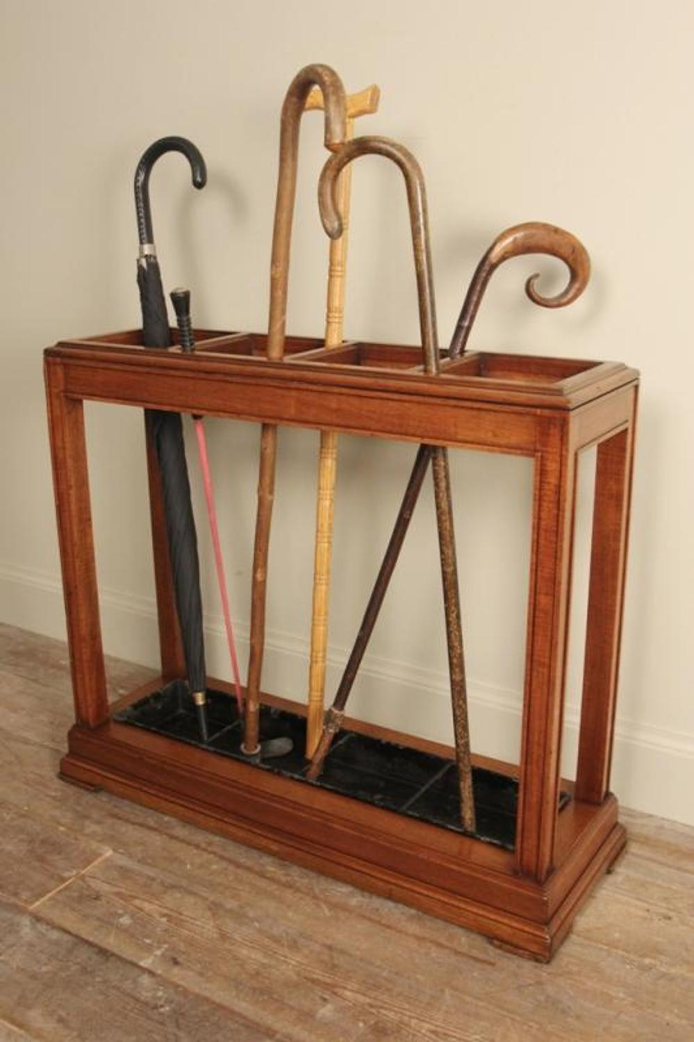 Edwardian Mahogany Umbrella & Stick Stand