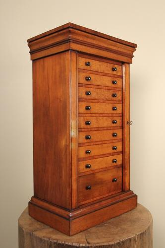 A Fine 19th C. Mahogany  Collectors Cabinet