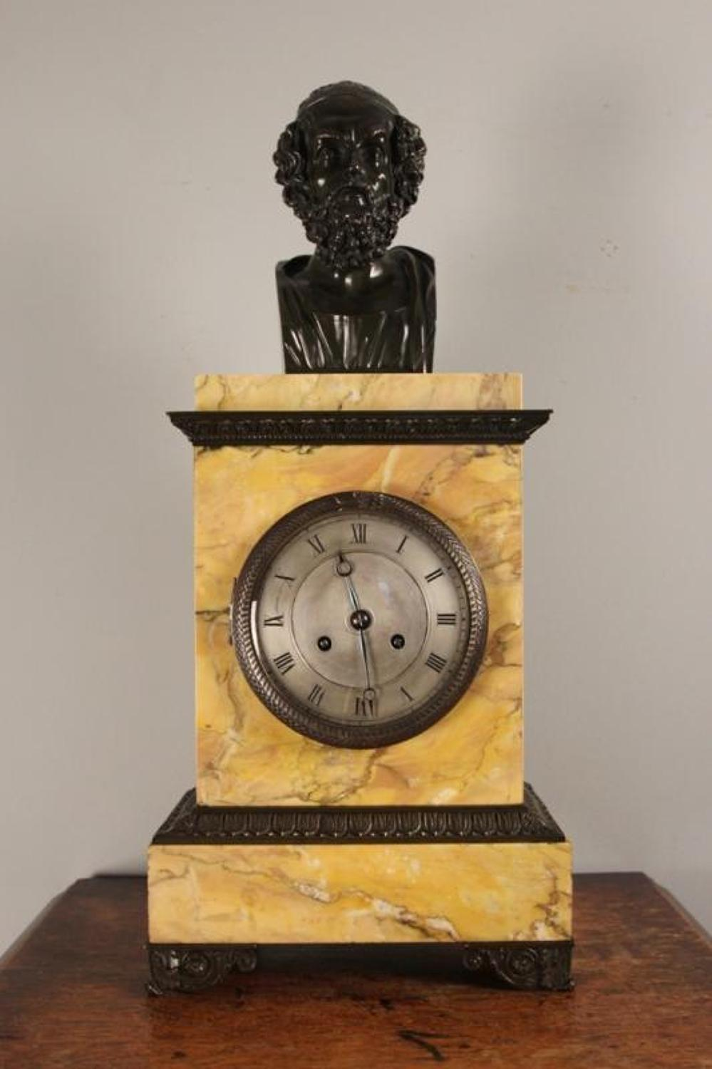Superb Regency French Marble Library Clock
