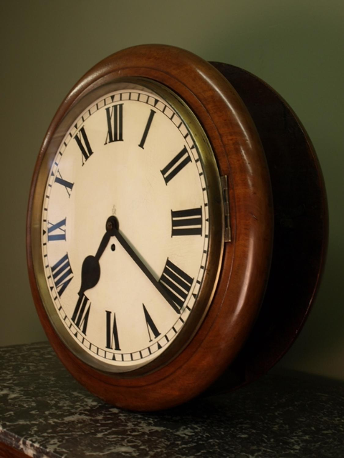 Double Sided Hanging English Dial Clock In Clocks