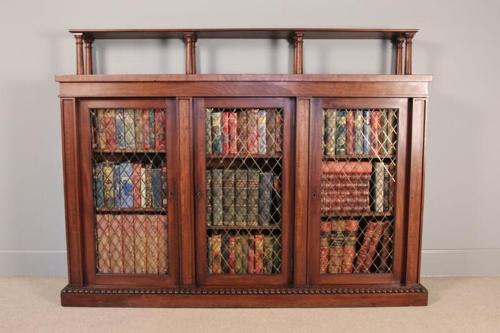 George IV Mahogany Side Cabinet/Bookcase