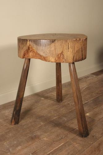 19th C Primitive Oak Butchers Table