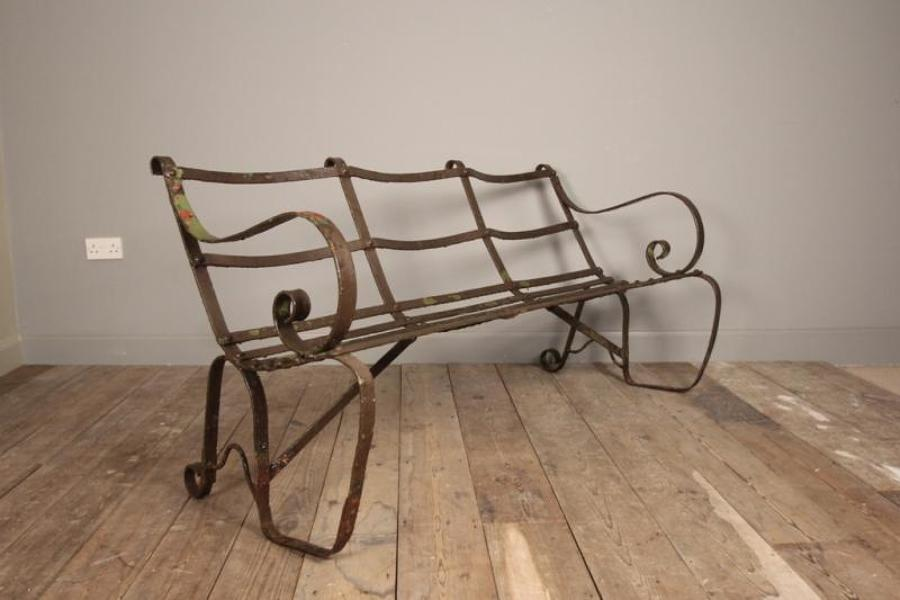 Sculptural Edwardian Garden Bench