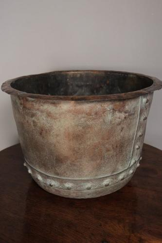 19th C. Copper Planter / Log Bin