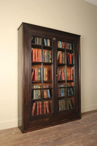 Georgian Ebonised Bookcase Cabinet