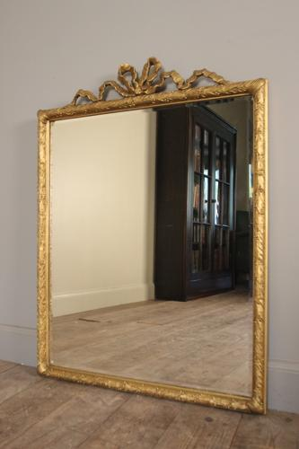 19th C. Giltwood Bow Mirror