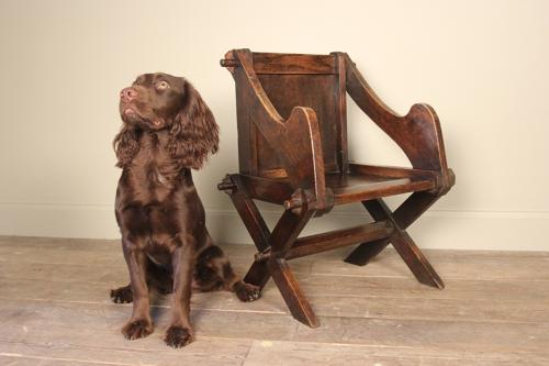 Lovely Child's Oak Glastonbury Chair