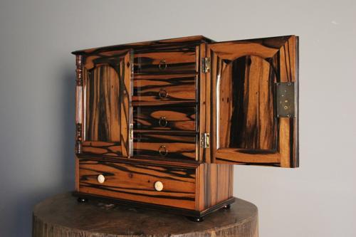 19th C. Colonial Coromandel  Collectors Cabinet