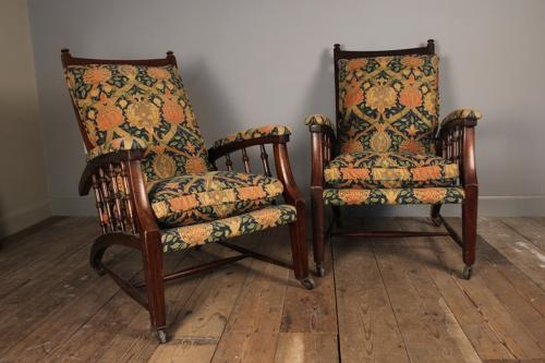 A Pair of Arts & Crafts Reclining Chairs