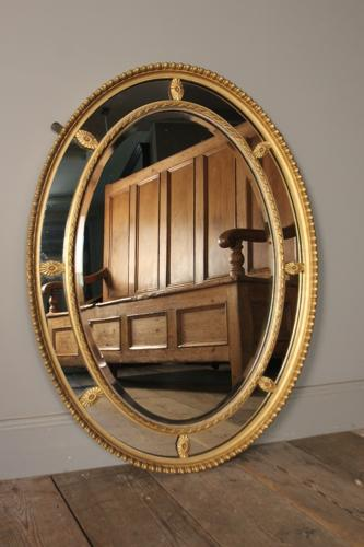 Edwardian Giltwood Margin Sectional Mirror