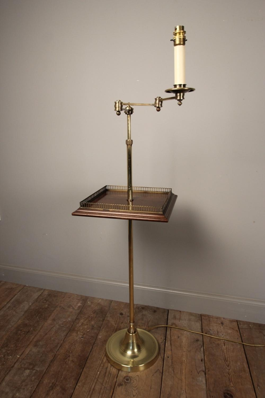 Stylish Brass Floor Lamp Table