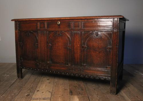 Superb 17th C. Oak Coffer