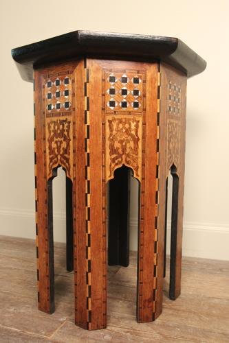 Inlaid Moorish Table by Liberty & Co