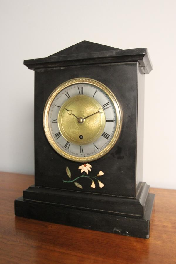 English Marble Mantel Clock