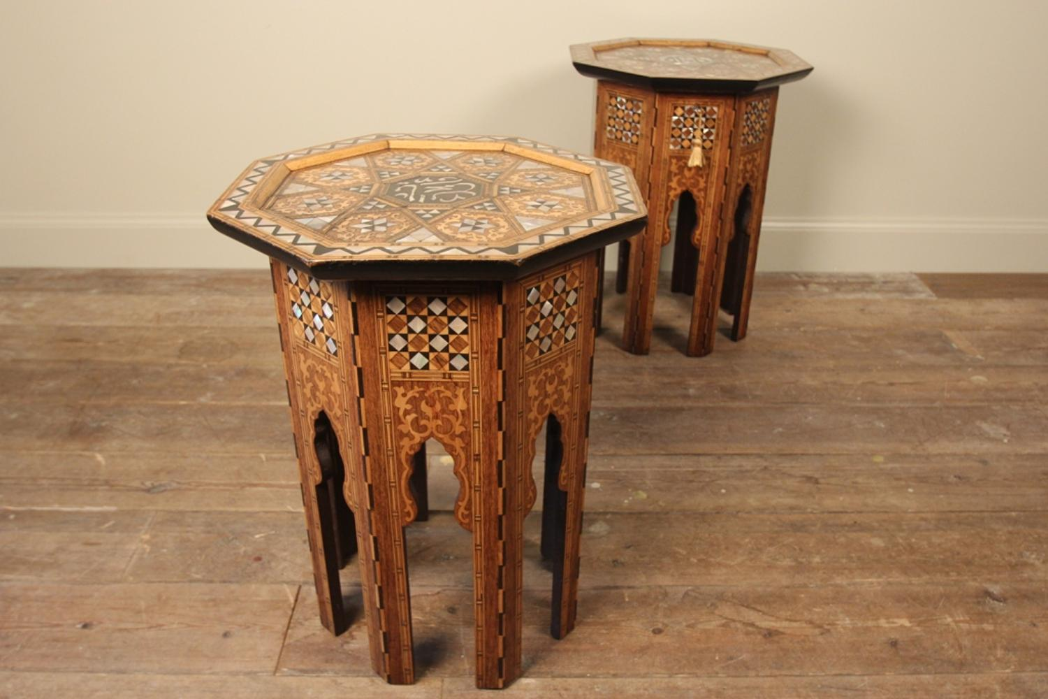 A Superb Pair of Liberty & Co Moorish Tables