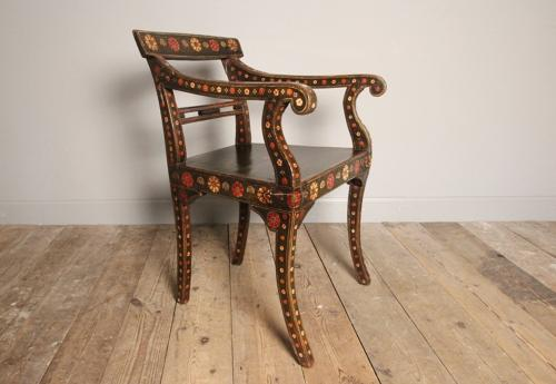 Regency Anglo Indian Elbow Chair