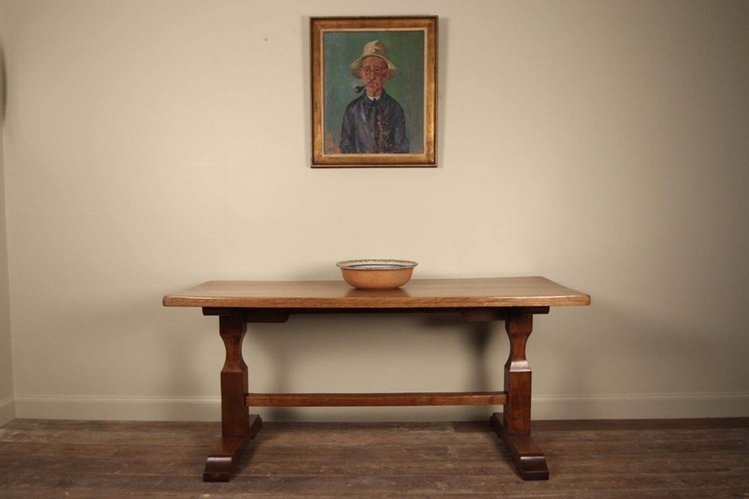 Stylish Small English Oak Refectory Table