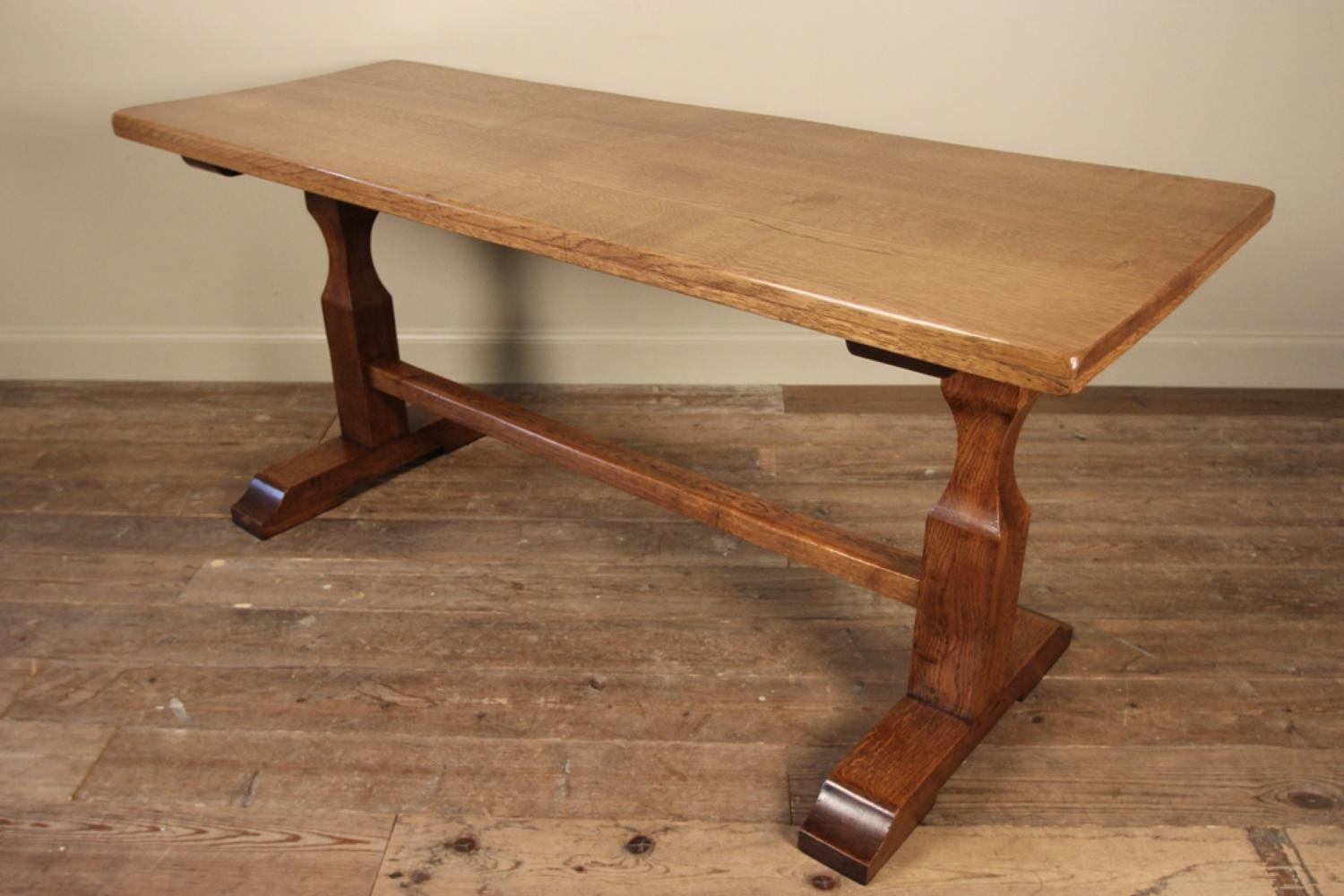 Stylish Small English Oak Refectory Table   Picture 2 ...