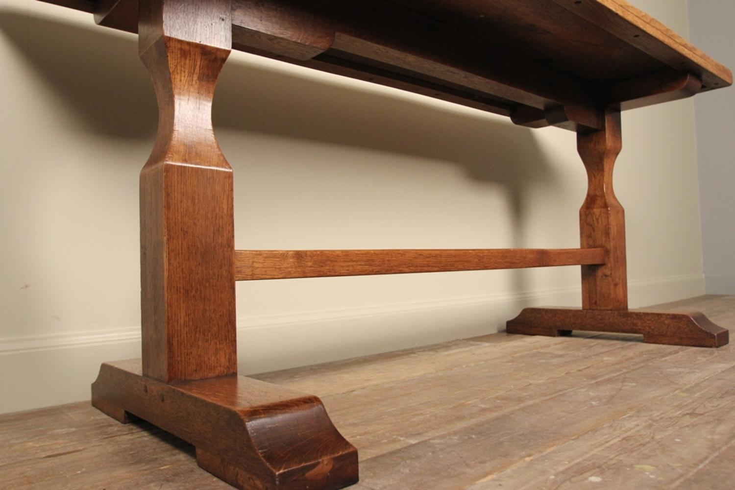 ... Stylish Small English Oak Refectory Table   Picture 5 ...