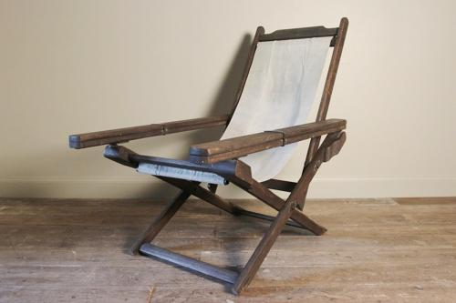 Fabulous Plantation Teak & Canvas Chair