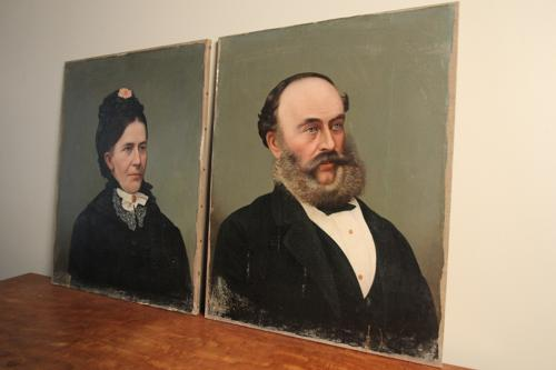 Pair of Edwardian Oil Portraits