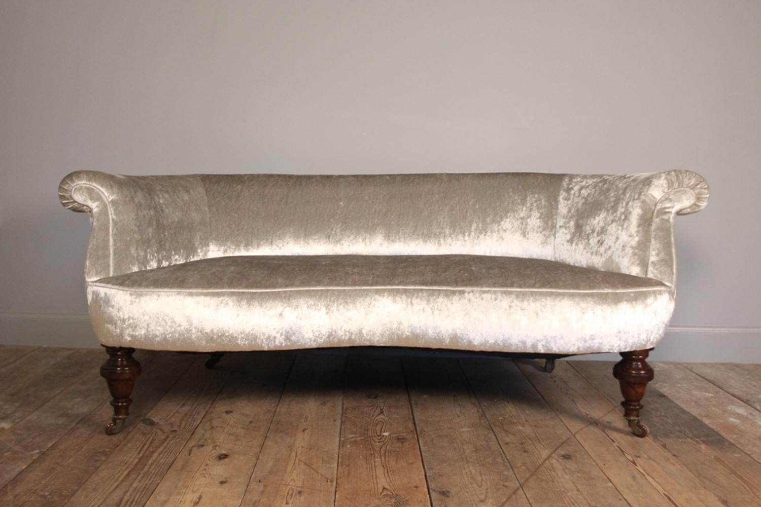 Small 19th C. Mahogany Kidney Shaped Sofa