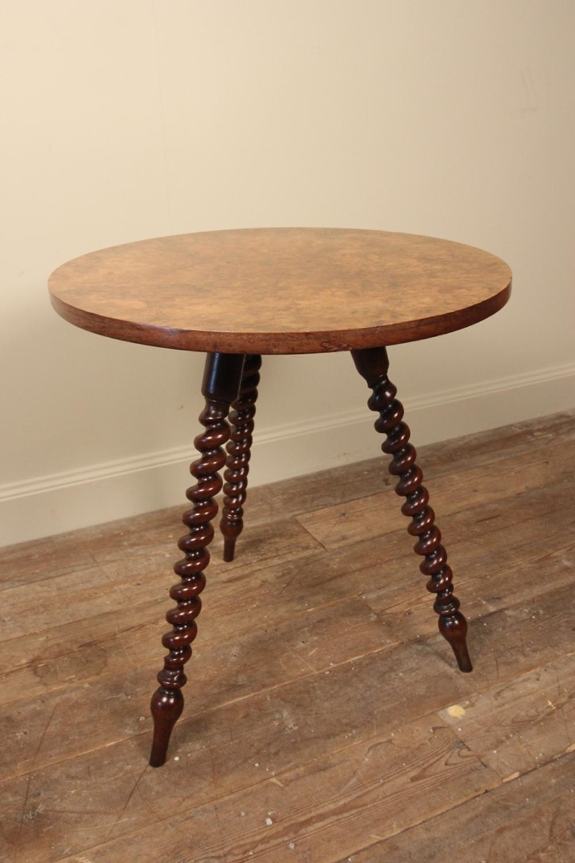 19th C. Burr Walnut Gypsy Table