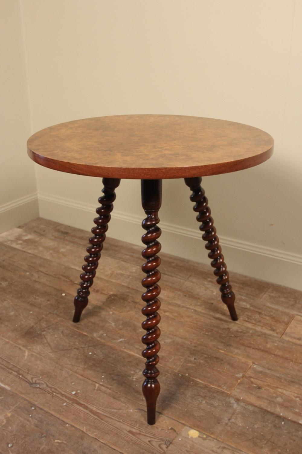 19th c burr walnut gypsy table in tables for Table th width