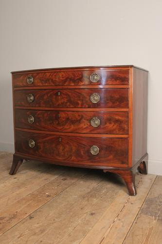 Beautiful Classic Regency Bowfront Chest Drawers