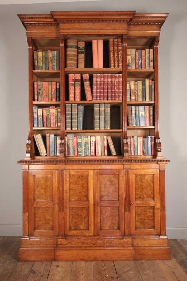 19th C. Pollard Oak Bookcase