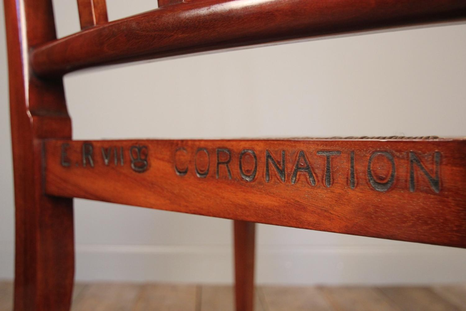 Scarce Edward VII Coronation Chair