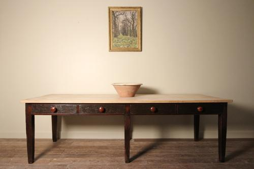 Superb Large Sycamore Farmhouse Kitchen Dairy Table