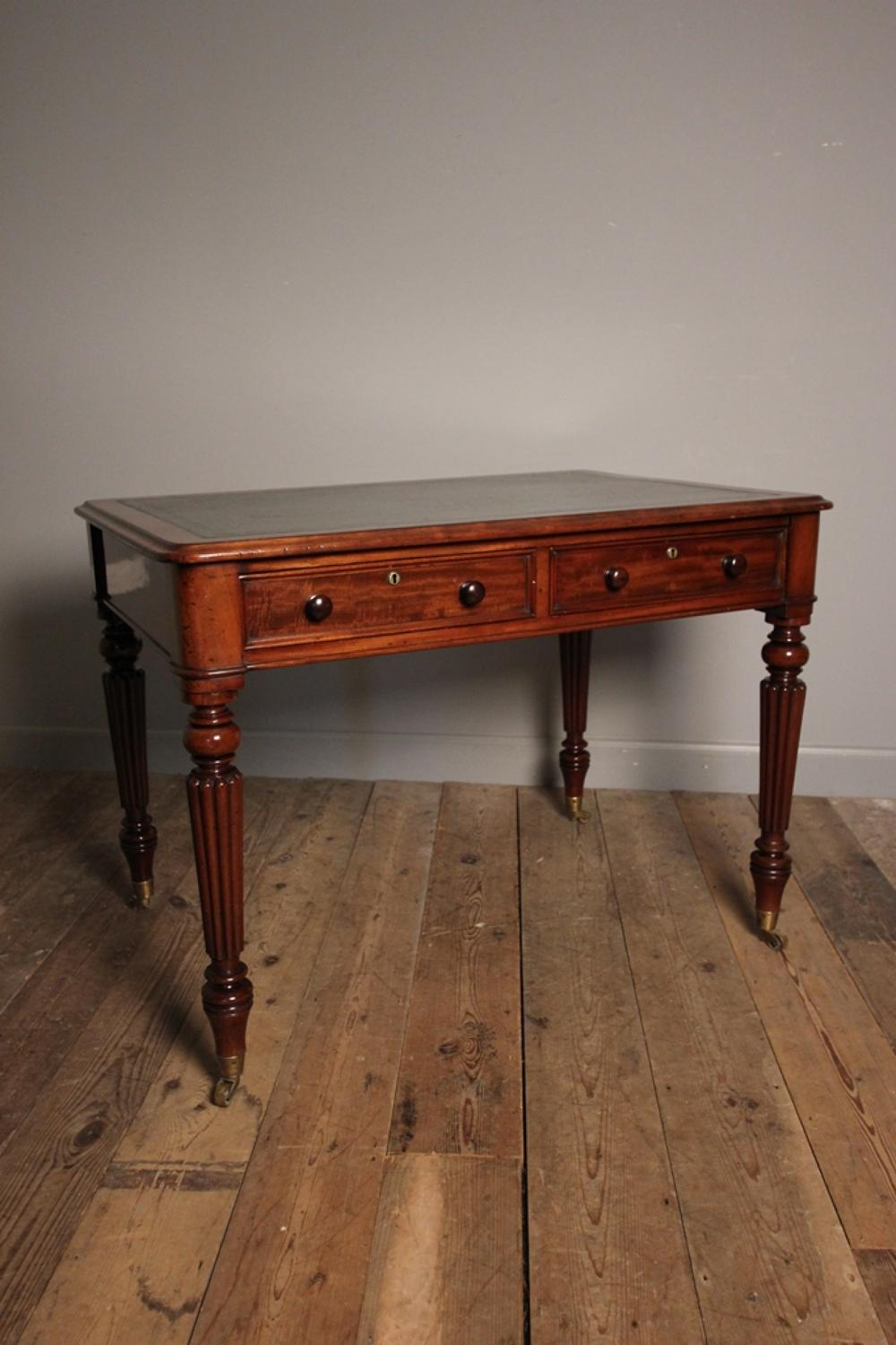 T. Willson 19th C. Mahogany Library Writing Table
