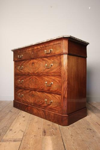 Stunning Louis Philippe Mahogany Commode Chest Of Drawers