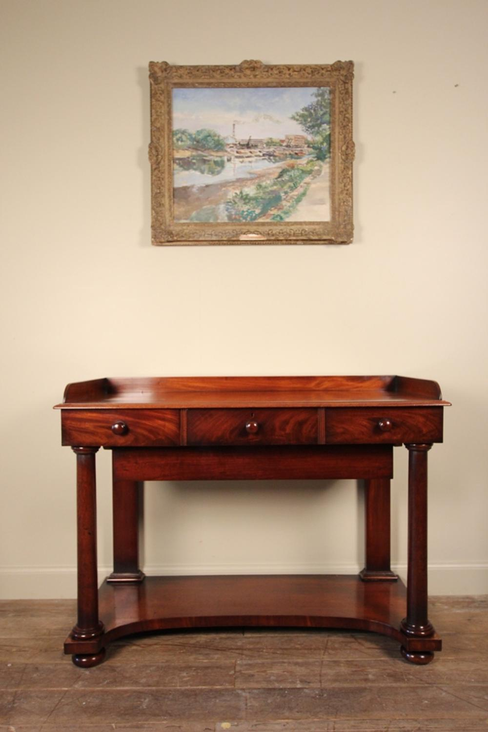 William IV Mahogany Console Serving Table with Fabulous  Colour