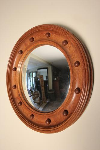 Heals Oak Convex Mirror