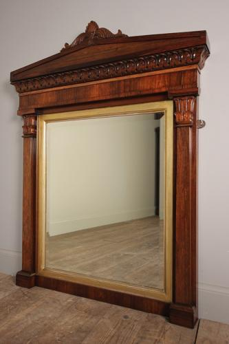 William IV Rosewood and Gilt Mirror