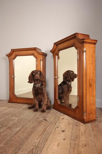 Superb Pair of Country House Apothecary Wall Cabinets