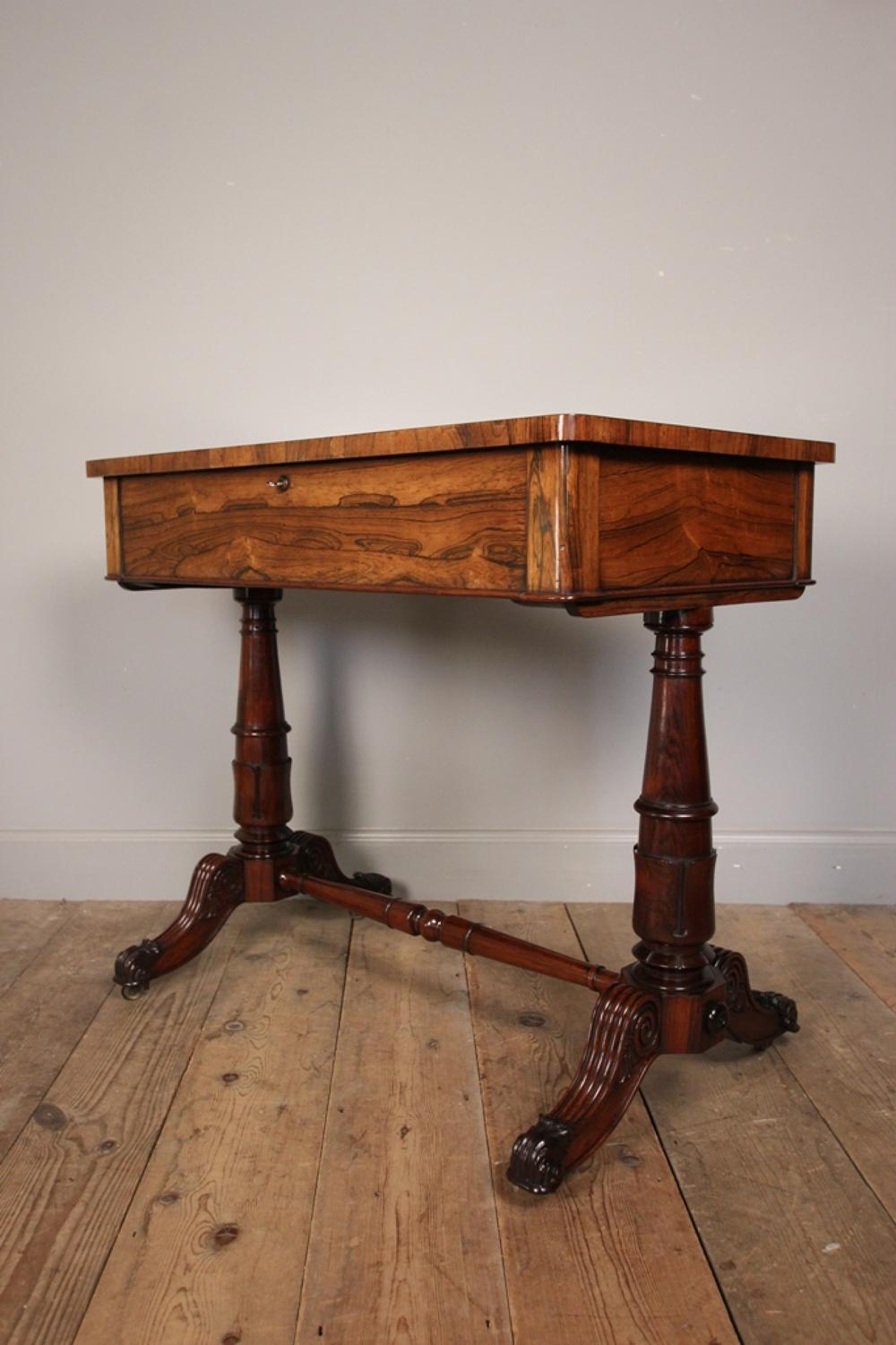 George IV Rosewood Bijouterie Table