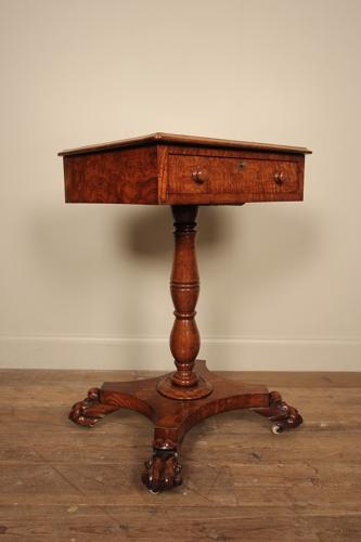 William IV Figured Oak Table