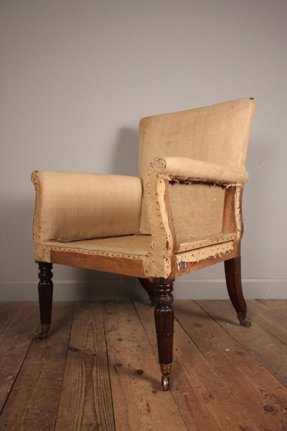 Wonderful Large Regency Library Chair