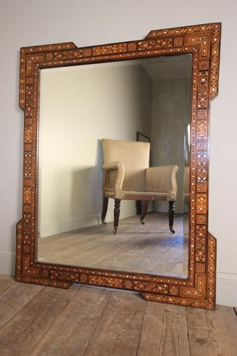 Beautiful Large Syrian Inlaid Mirror