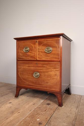 Georgian Mahogany Bedside Chest
