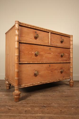 Beautiful Regency Faux Bamboo Chest of Drawers