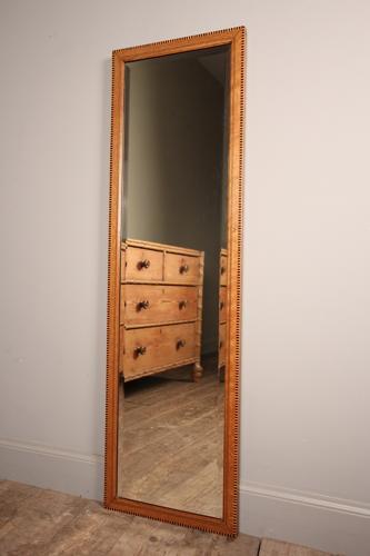 Edwardian Oak Inlaid Dressing Mirror