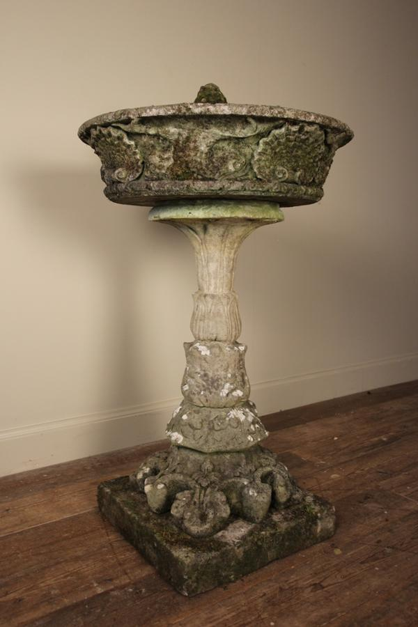 Beautiful Early 20th C Stone Bird Bath