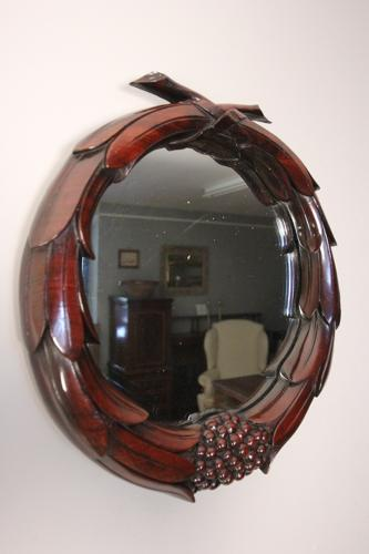 Stunning 19th C. Mahogany Carved Mirror